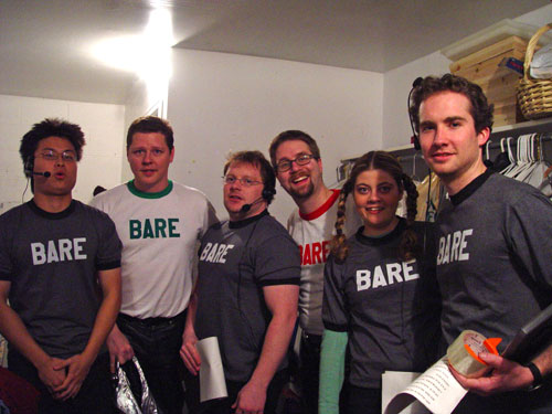 Bare crew backstage