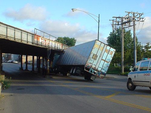 Tilted truck