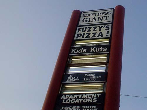 Fuzzy's Pizza!