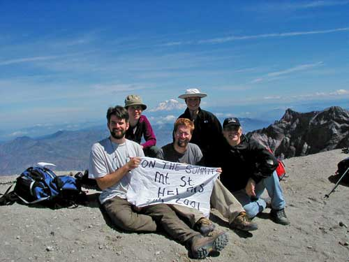 On top of Mount St. Helens