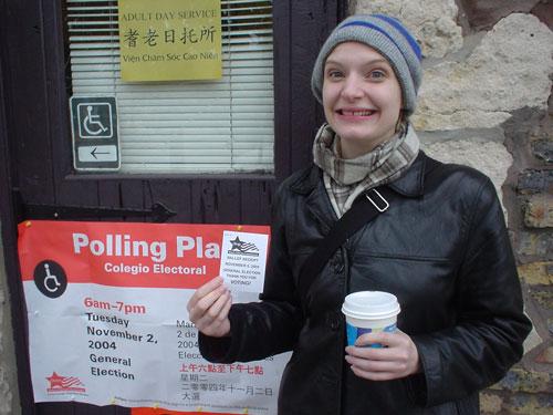 Erica Voted!