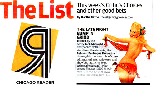 Chicago Reader's The List
