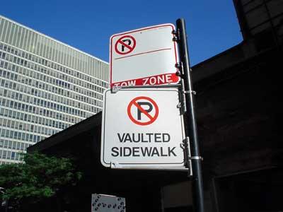No Parking - Vaulted Sidewalk