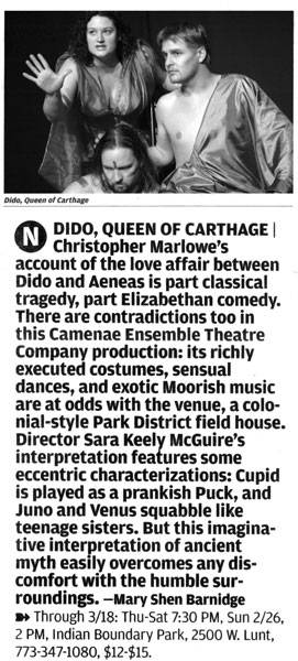 Dido, Queen of Carhage - Chicago Reader 2-23-06