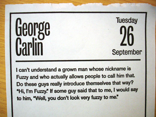 George Carlin on Fuzzy