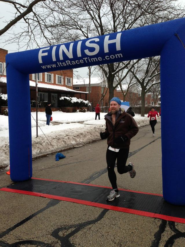 Fuzzy finishes Cupid's Love Dash