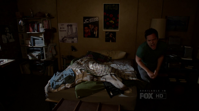 JC Brooks poster on New Girl s02e16