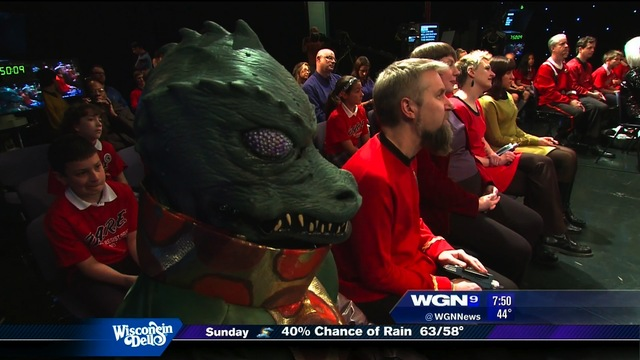 Sitting with a Gorn in the audience