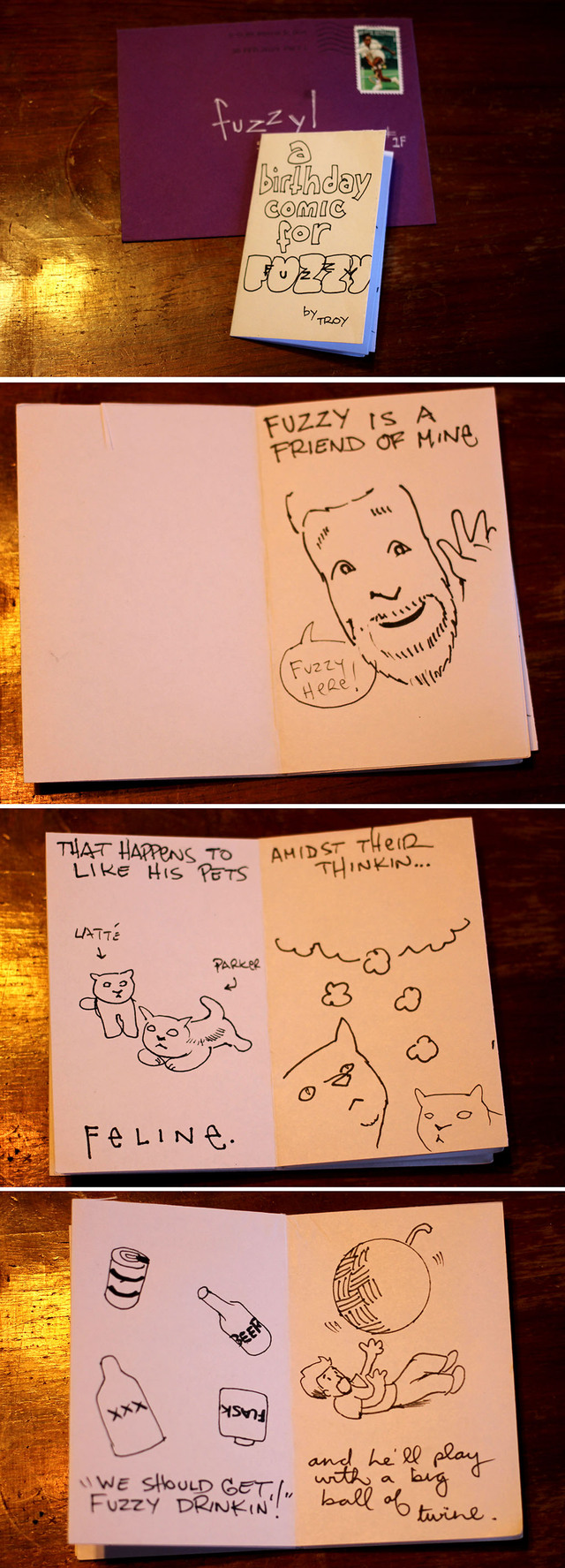 Birthday Comic from Troy