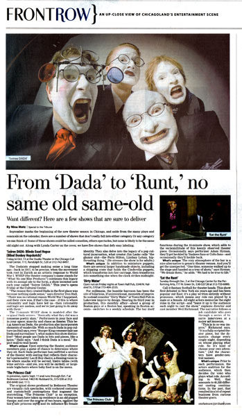 Chicago Tribune on Soiree DADA