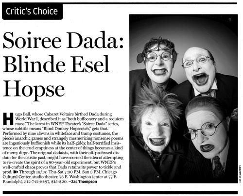 Chicago Reader - Soiree DADA