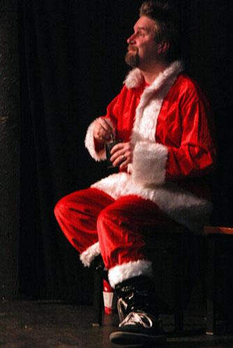 Fuzzy Santa at Belmont Burlesque - Photo by K Leo