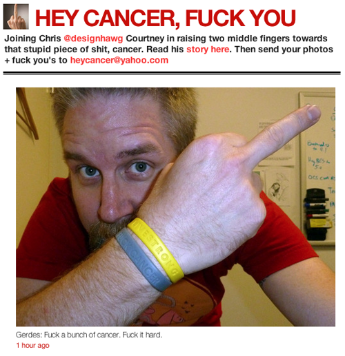 Hey Cancer, Fuck You