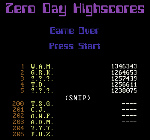 Zero Day-Painstakingly Concealed Secret Track-FUZ Highscore