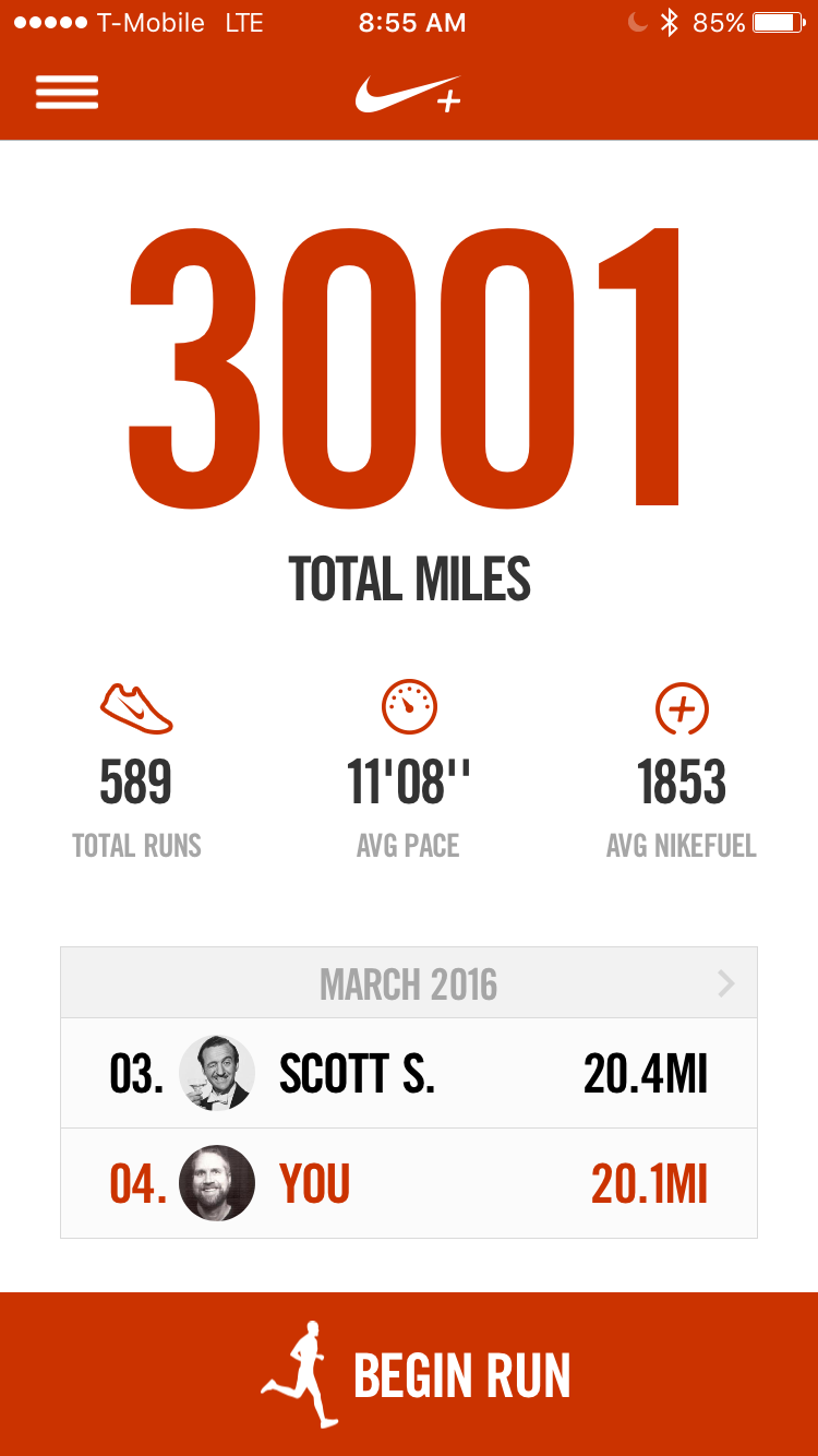Nikeplus 3000 miles