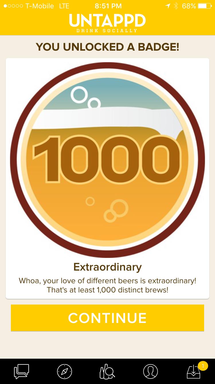 Untappd 1000 beers