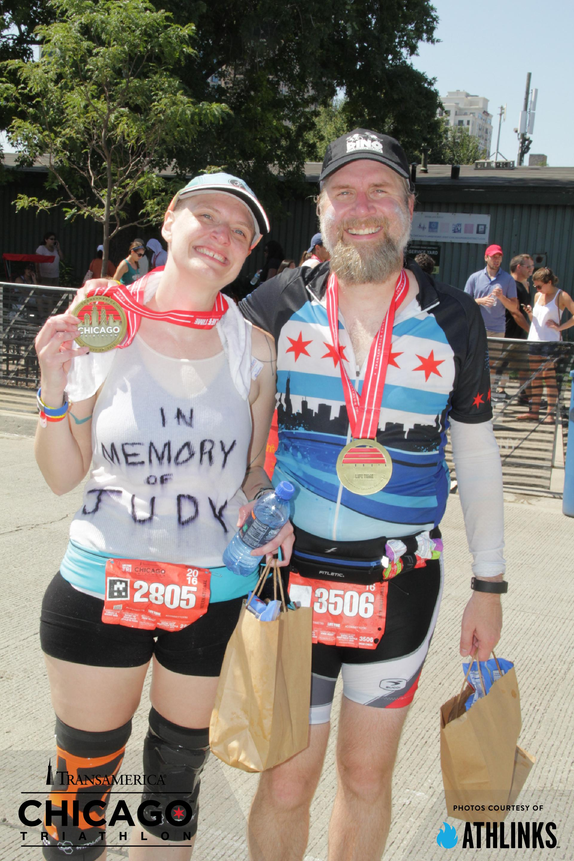 Erica and Fuzzy - Chicago Triathlon 2016