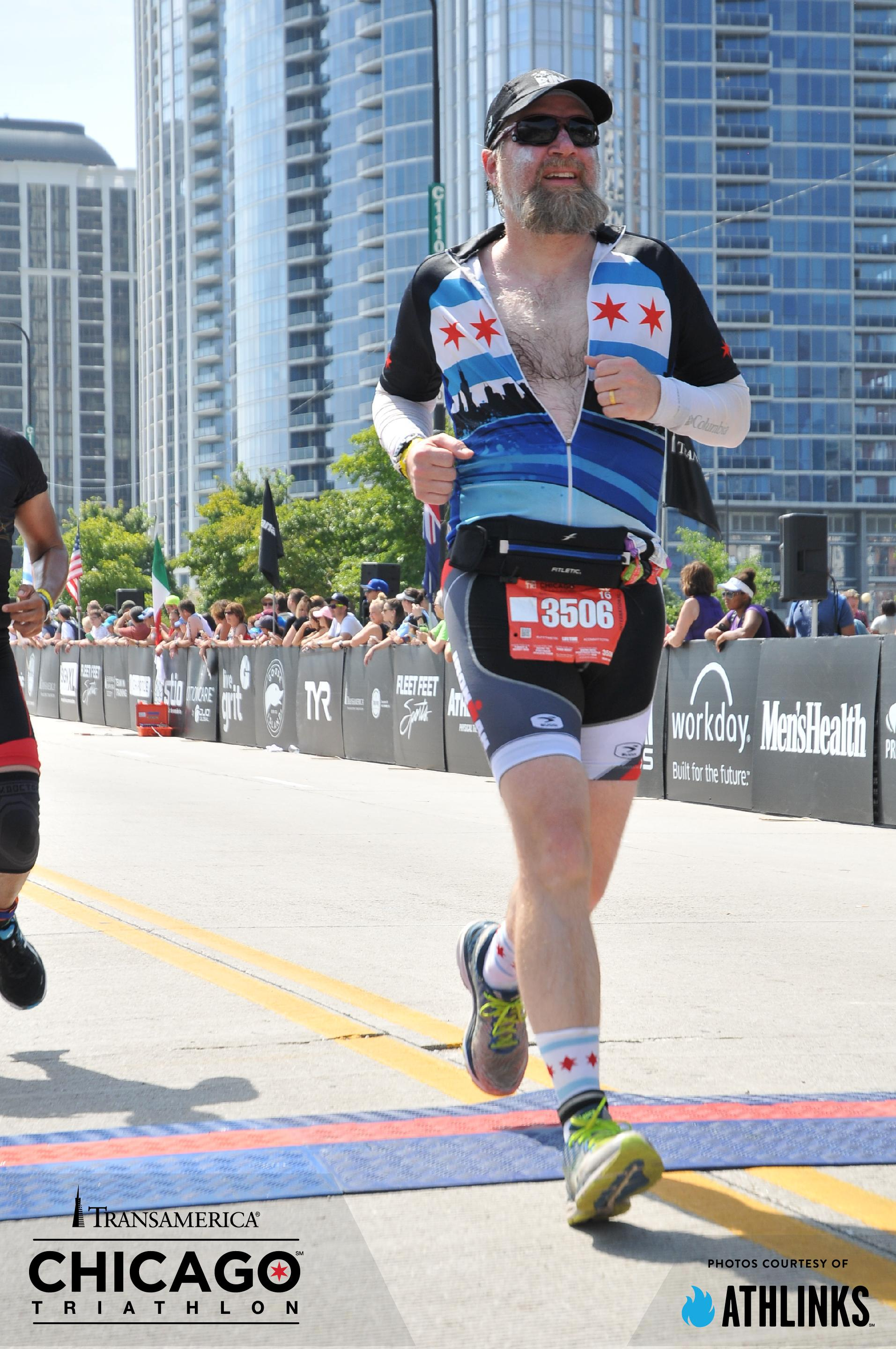 Fuzzy finishing - Chicago Triathlon 2016