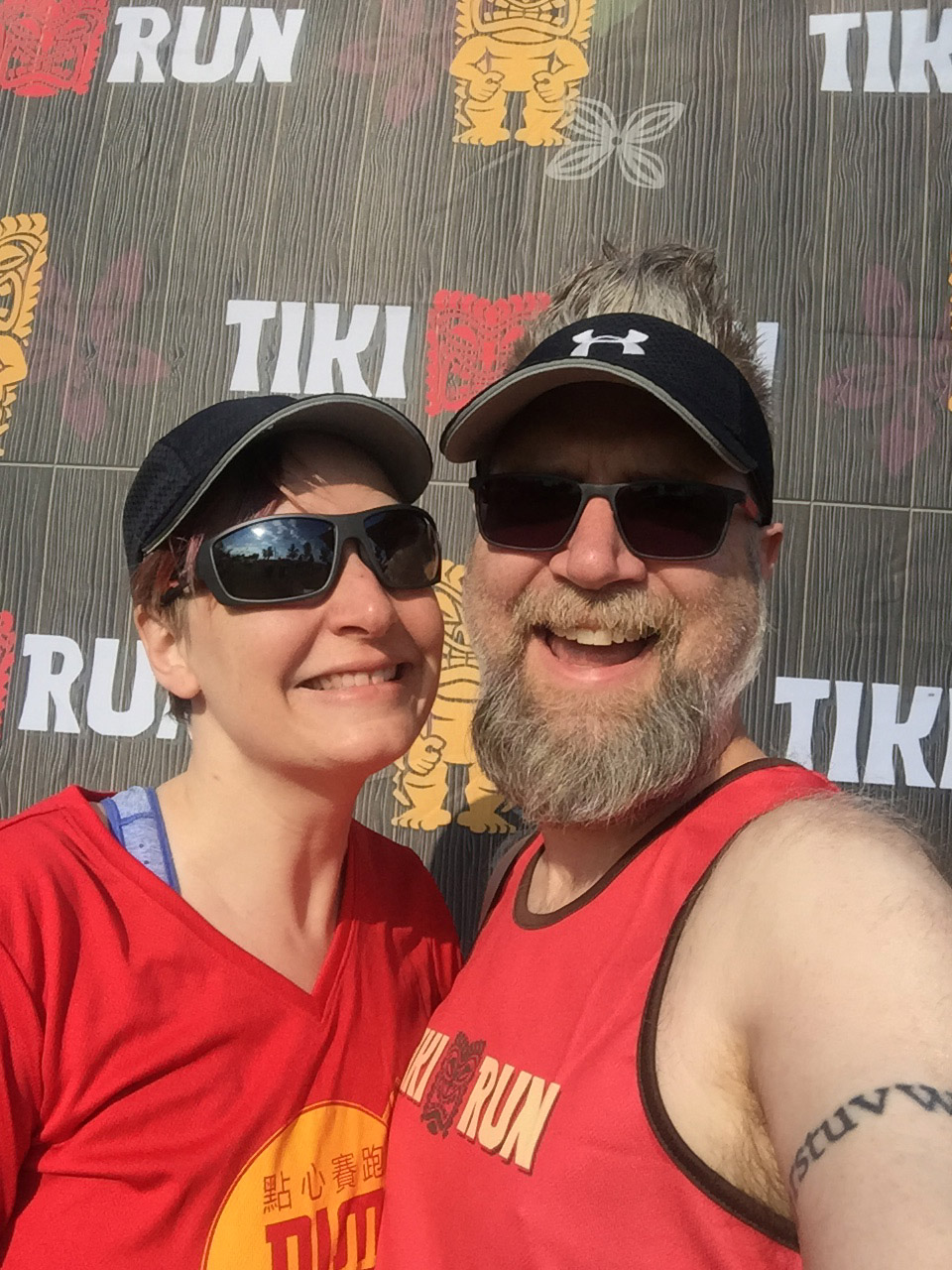 Erica and Fuzzy at the Tiki Run