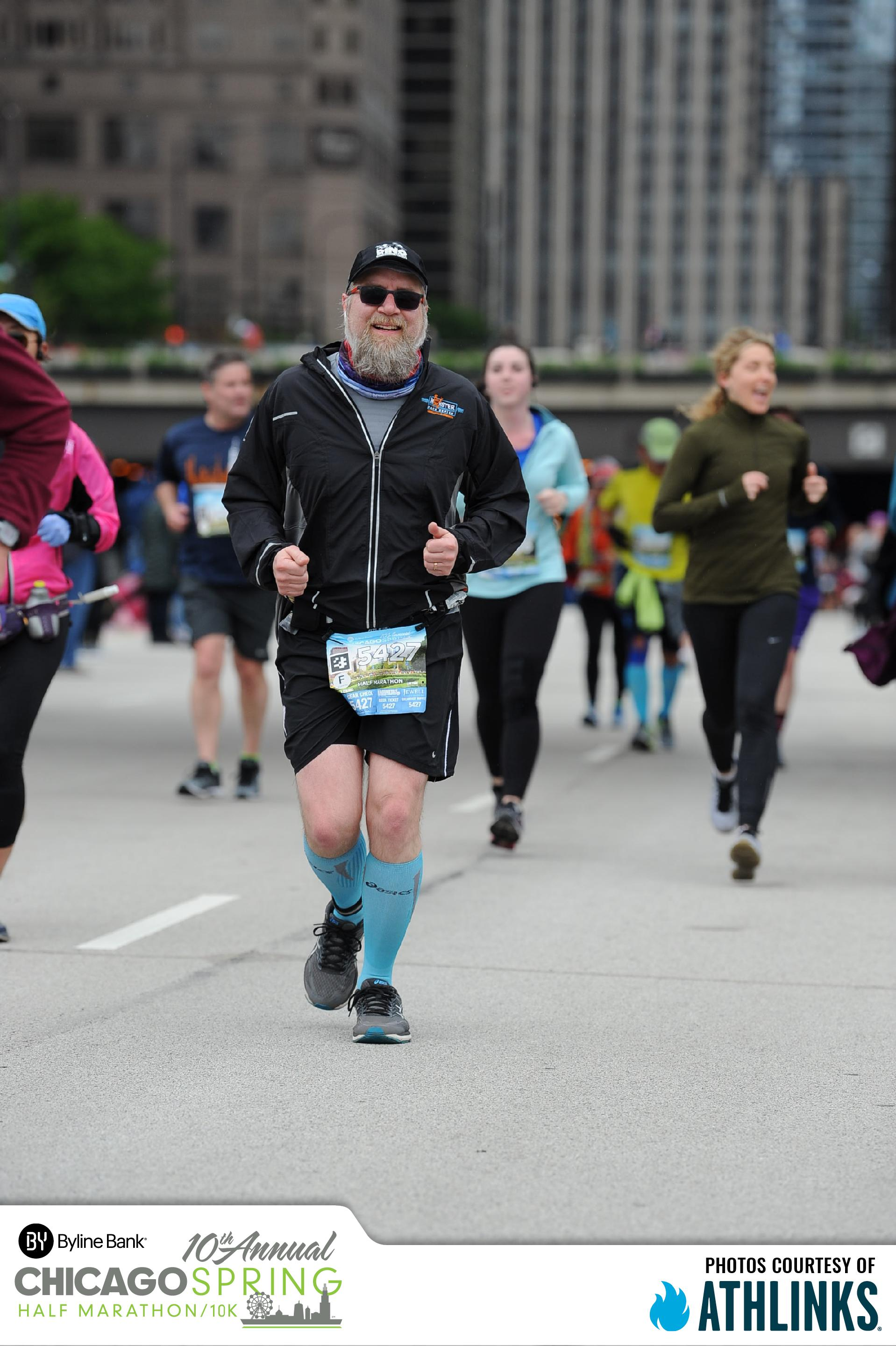 Fuzzy running the Chicago Spring Half Marathon