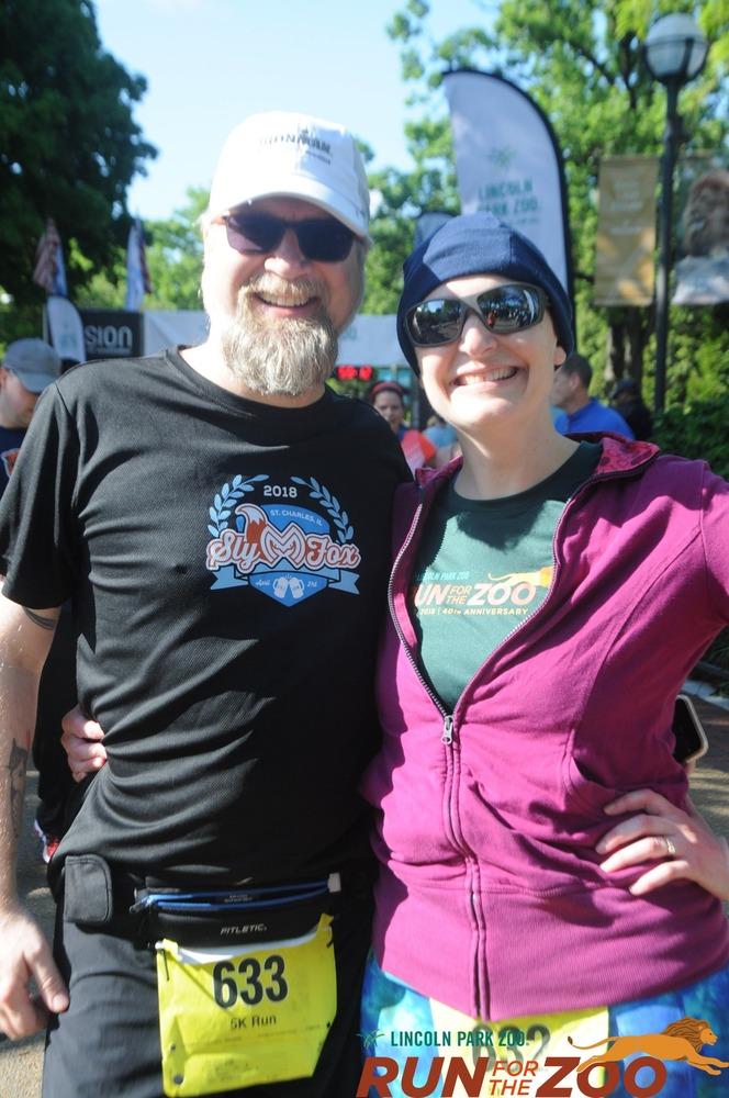 Fuzzy and Erica at the Run for the Zoo